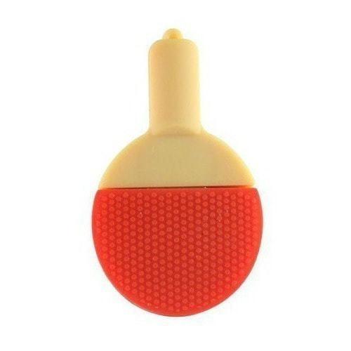 Подарочная флешка. Ракетка для настольного тенниса (красная) (фото, вид 1)