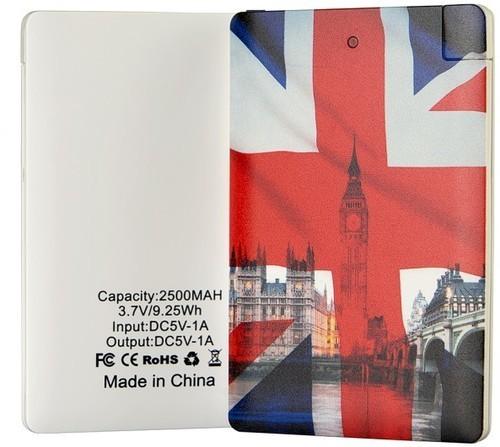 Подарочный внешний аккумулятор Powerbank. Британский флаг (2500 mah) (фото, вид 1)