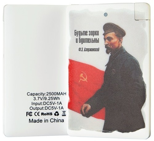 Подарочный внешний аккумулятор Powerbank. Будьте бдительны! (2500 mah) (фото, вид 1)