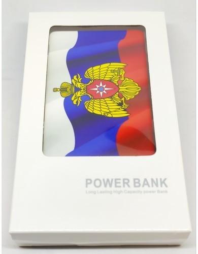 Подарочный внешний аккумулятор Powerbank. Герб МЧС (2500 mah) (фото, вид 3)