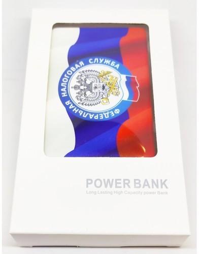 Подарочный внешний аккумулятор Powerbank. Герб ФНС (2500 mah) (фото, вид 3)