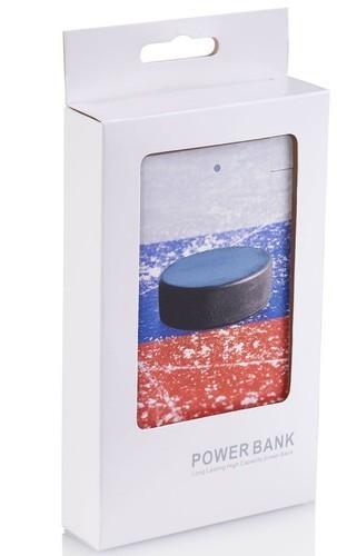 Подарочный внешний аккумулятор Powerbank. Хоккей (2500 mah) (фото, вид 1)