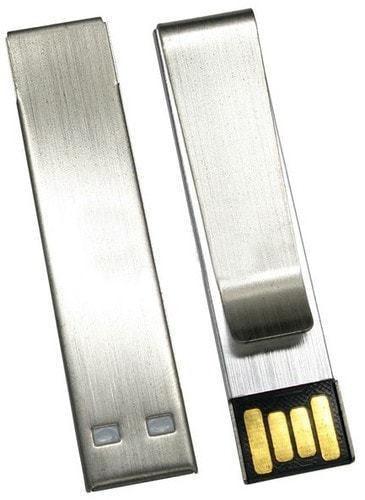 Подарочная металлическая флешка. Зажим для денег (фото, вид 1)