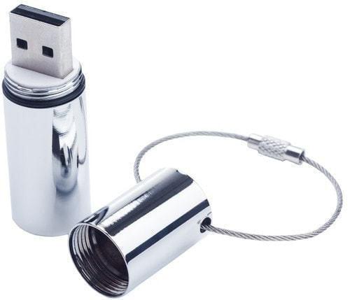 Подарочная металлическая флешка. Цилиндр (фото, вид 1)
