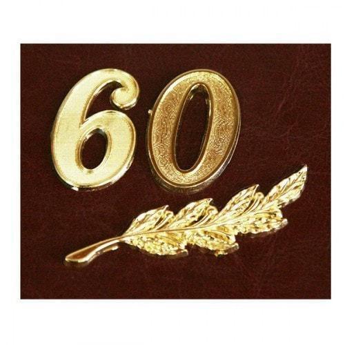 Папка юбилейная с адресом. 60 лет (фото, вид 3)