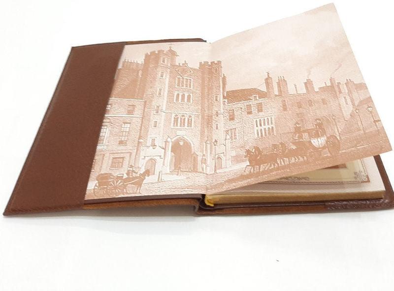 Подарочный ежедневник в кожаном переплете (А5). Royal | Тоскана (фото, вид 2)