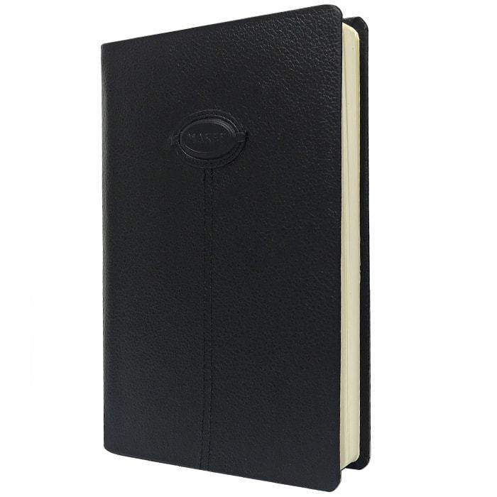 Подарочный ежедневник в кожаном переплете (А5). Classic | Чёрный (фото, вид 1)