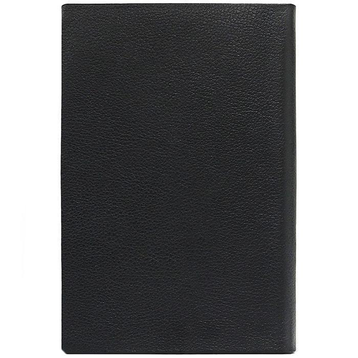 Подарочный ежедневник в кожаном переплете (А5). Classic   Чёрный (фото, вид 4)