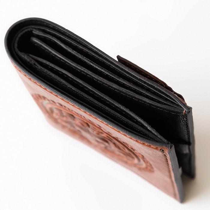 Кошелек из натуральной кожи. Royal   Чёрно-коричневый (фото, вид 3)