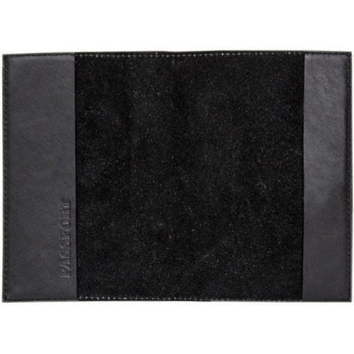 Кожаная обложка на паспорт. Герб МЧС | Чёрный (фото, вид 1)