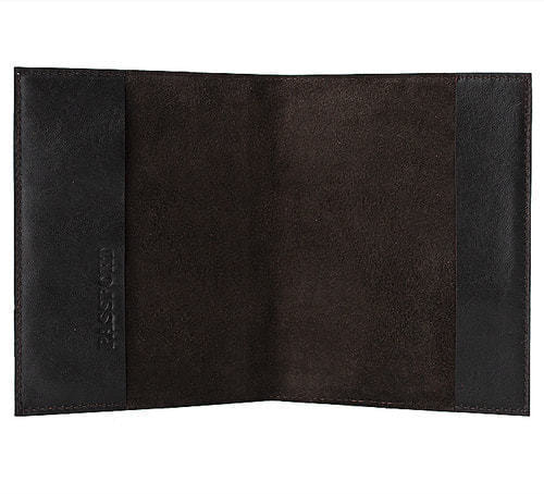 Кожаная обложка на паспорт. Герб таможни | Коричневый (фото, вид 1)