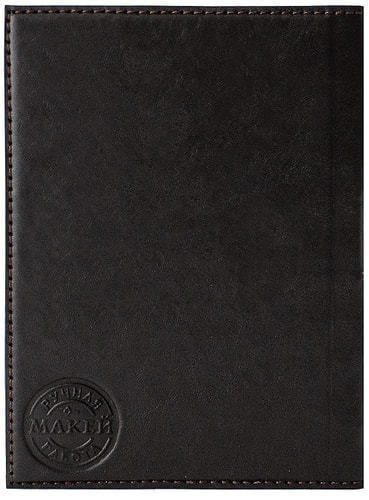 Кожаная обложка на паспорт. Герб таможни | Коричневый (фото, вид 2)