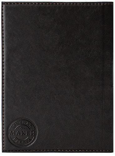 Кожаная обложка на паспорт. Учителю | Коричневый (фото, вид 2)
