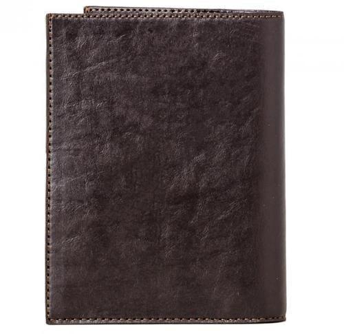Кожаная обложка для документов (3 в 1). Герб МЧС   Чёрный (фото, вид 1)