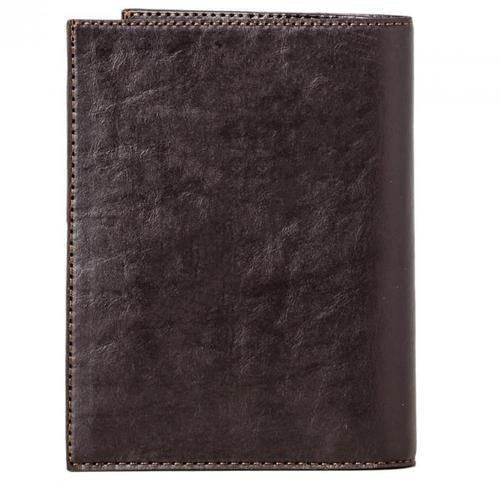 Кожаная обложка для документов (3 в 1). Герб МЧС | Чёрный (фото, вид 1)