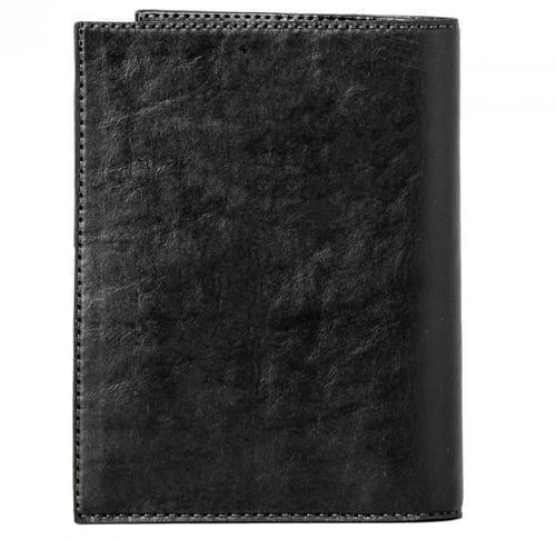 Кожаная обложка для документов (3 в 1). Герб МЧС   Чёрный (фото, вид 4)