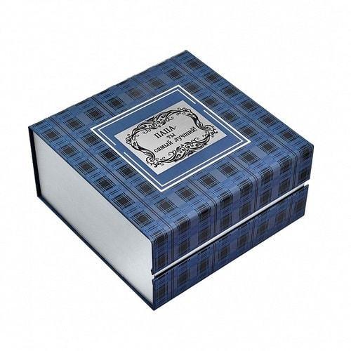 Подарочный набор c подстаканником в футляре (3 предмета). Лучший папа (сын) (фото, вид 7)