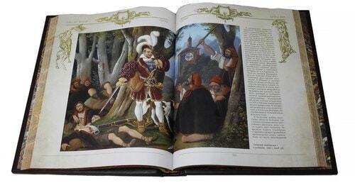 Книга в кожаном переплете и подарочном коробе. Оружие с древних времен до XIX века (фото, вид 4)