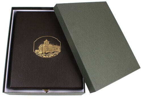 Книга в кожаном переплете и подарочном коробе. Памятники Москвы (фото, вид 6)