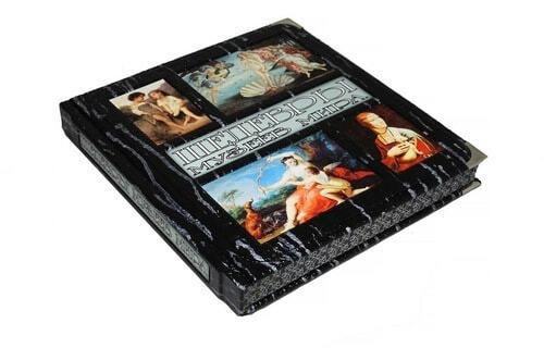 Книга в кожаном переплете и подарочном коробе. Шедевры музеев мира (фото, вид 1)