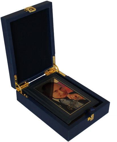 Книга в кожаном переплете и подарочном коробе. Путин В.В. Изречения и афоризмы (фото, вид 2)