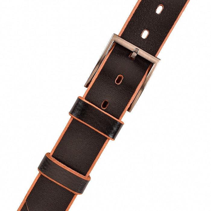 Кожаный ремень в деревянной шкатулке. Настоящий мужчина (цвет черно-коричневый) (фото, вид 3)