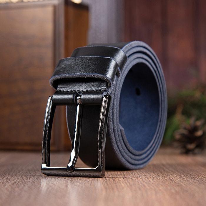 Кожаный ремень в деревянной шкатулке. Любимому мужу (цвет черно-синий) (фото, вид 5)