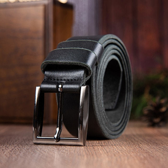 Кожаный ремень в деревянной шкатулке. Глава семьи (цвет черно-серый) (фото, вид 5)