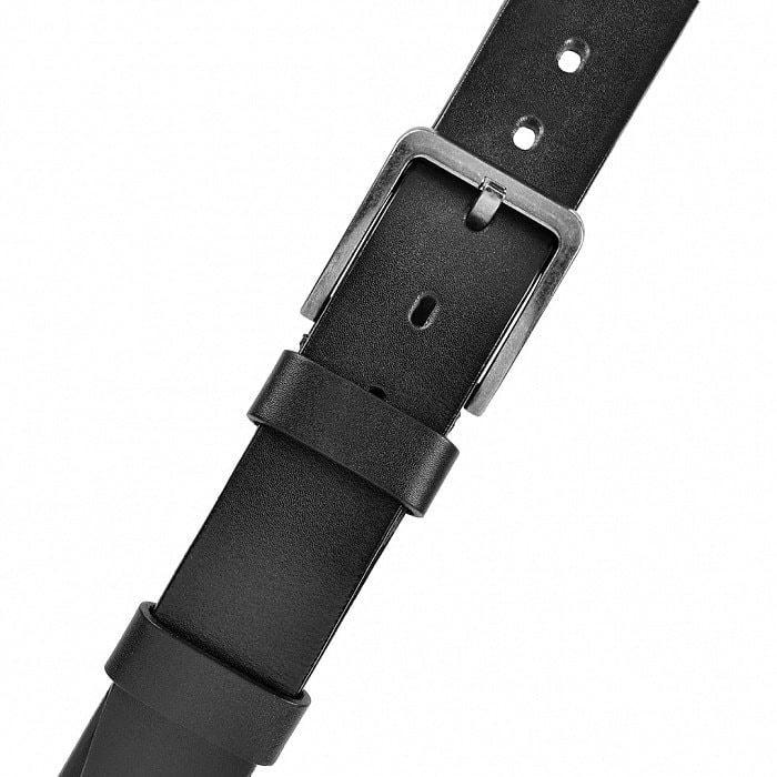 Кожаный ремень в деревянной шкатулке. Настоящий мужчина (цвет черный) (фото, вид 3)