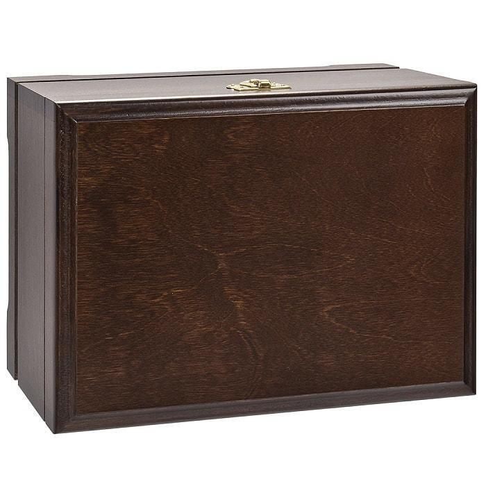 Подарочный набор для виски в деревянной шкатулке (7 предметов). С Юбилеем 80 лет (фото, вид 3)