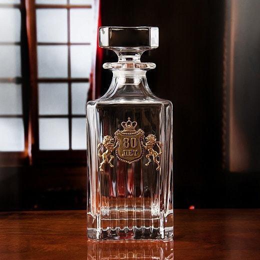 Подарочный набор для виски в деревянной шкатулке (7 предметов). С Юбилеем 80 лет (фото, вид 4)