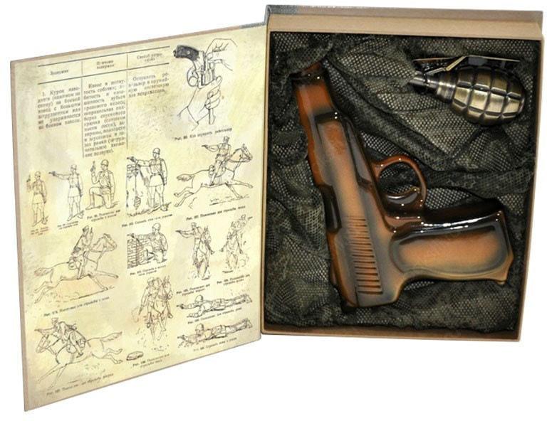 Подарочный набор с фарфоровым штофом. Наставление по стрелковому делу (фото, вид 2)