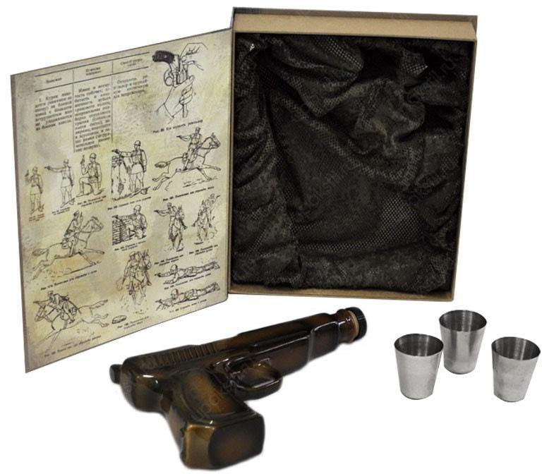 Подарочный набор (фарфоровый штоф + стаканчики). Общевоинские Уставы Вооруженных Сил РФ (фото, вид 3)
