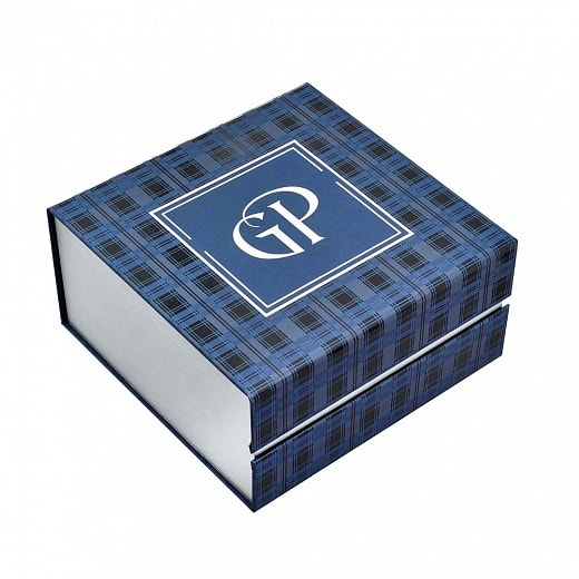 Подарочный набор c позолоченным подстаканником в футляре (3 предмета). За честь и достоинство (фото, вид 2)