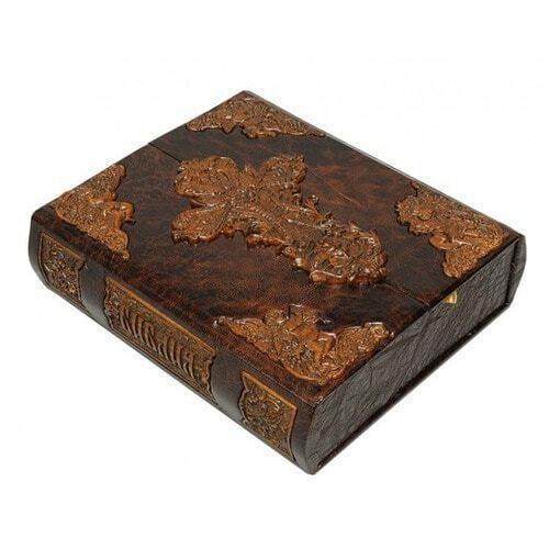 Подарочная книга в кожаном переплете. Библия (в коробе иконостас-складень) (фото, вид 2)