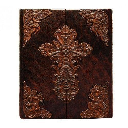 Подарочная книга в кожаном переплете. Библия (в коробе иконостас-складень) (фото, вид 5)