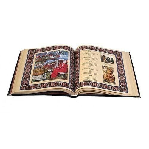 Подарочная книга в кожаном переплете. Афоризмы великих врачей (в футляре) (фото, вид 2)