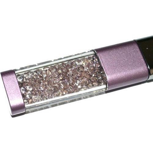 Ювелирная флешка. Брелок с кристаллами. Цвет сиреневый (фото, вид 3)