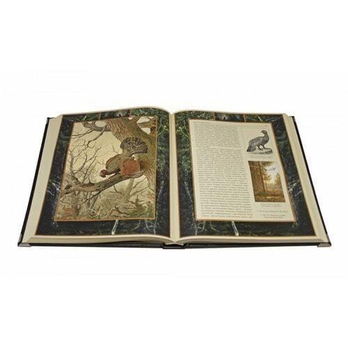 Подарочная книга в кожаном переплете. Русская охота (фото, вид 2)