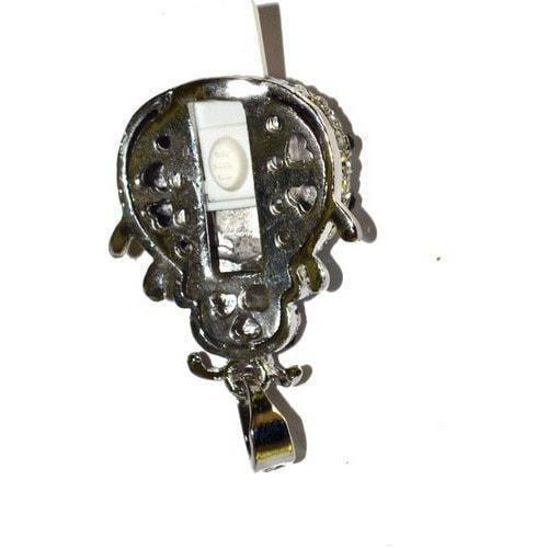Ювелирная флешка-подвеска. Божья коровка (цвет белый) (фото, вид 1)