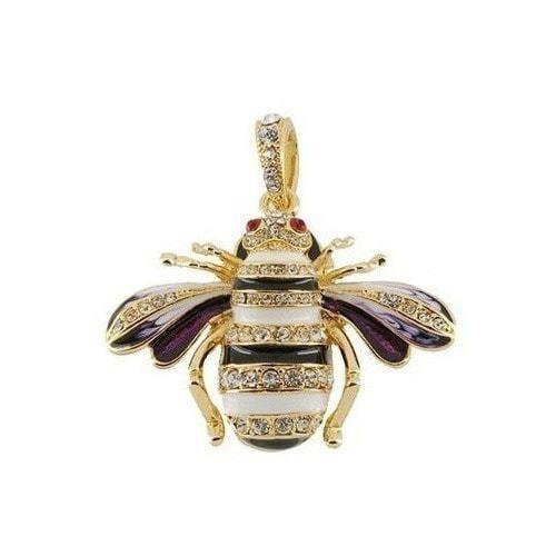Ювелирная флешка-подвеска. Пчела со стразами (фото, вид 1)