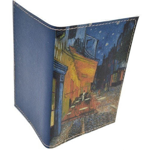Кожаная обложка на паспорт. Ван Гог. Ночное кафе (фото, вид 1)