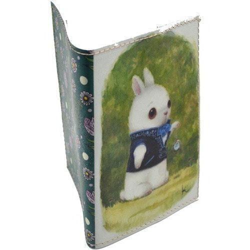 Кожаная обложка на паспорт. Заяц (фото, вид 1)