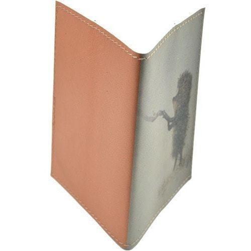 Кожаная обложка на паспорт. Ежик в тумане (фото, вид 1)