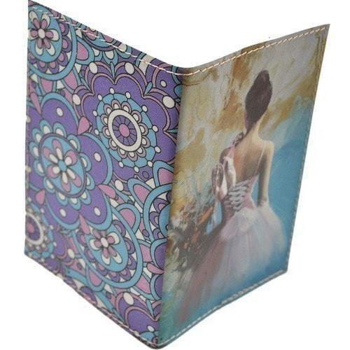 Кожаная обложка на паспорт. Балет (фото, вид 1)