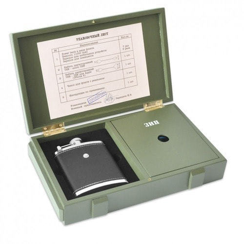 Подарочный набор с внешним аккумулятором. Зарядный ящик (11000 mah) (фото, вид 3)