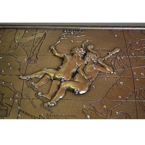 Панно из металла на стену. Знаки Зодиака. Близнецы (25 х 20 см) (фото, вид 2)