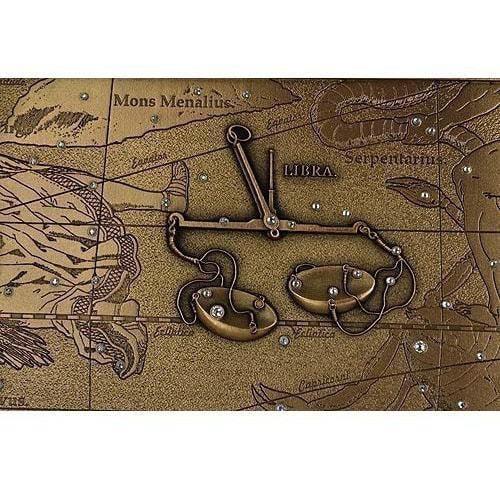 Панно из металла на стену. Знаки Зодиака. Весы (20 х 25 см) (фото, вид 2)