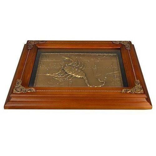 Панно из металла на стену. Знаки Зодиака. Скорпион (34 x 29 см) (фото, вид 1)