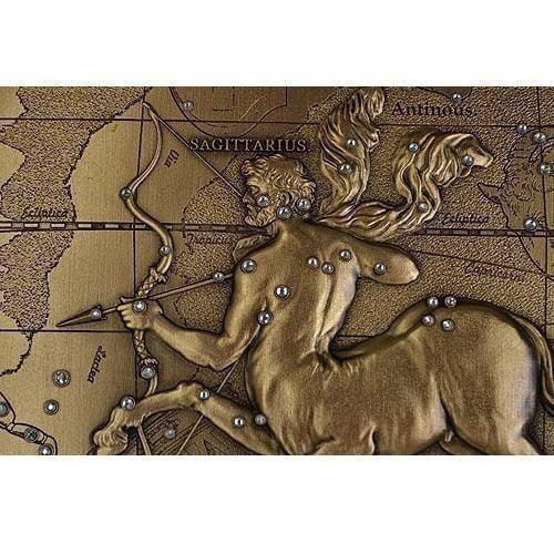Панно из металла на стену. Знаки Зодиака. Стрелец (малое) (фото, вид 2)